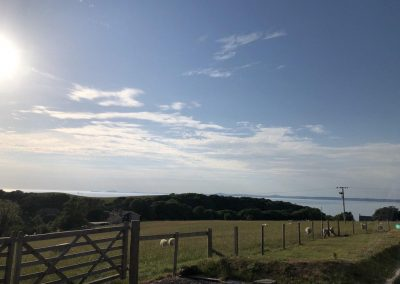 Panoramic view over St. Brides bay